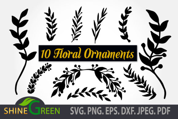 Print on Demand: Wedding Floral Ornaments Bundle, Leaves Graphic Illustrations By ShineGreenArt