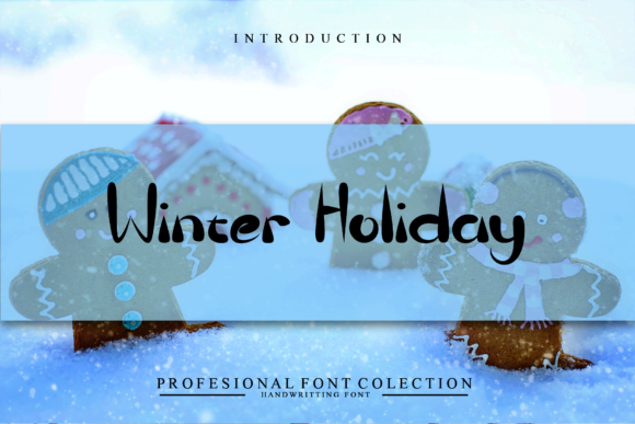 Print on Demand: Winter Holiday Display Font By giatstudios