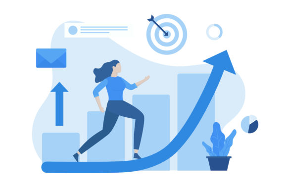 Women Career Growth Illustration Concept Graphic Download