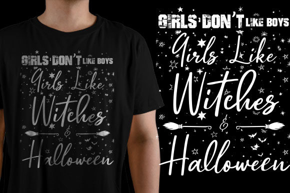 Girls Don't Like Boy Girls Like Witches Graphic Crafts By HASSHOO