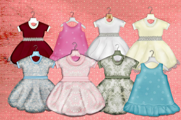 Print on Demand: Little Girl Dresses Graphic Illustrations By LilBitDistressed