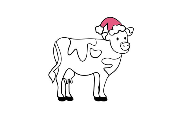 Christmas Cow Christmas Craft Cut File By Creative Fabrica Crafts