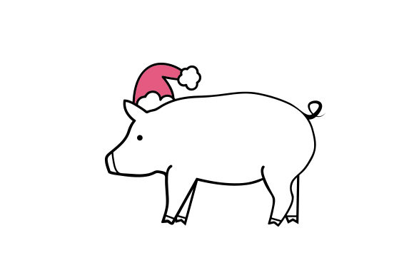 Christmas Pig Christmas Craft Cut File By Creative Fabrica Crafts