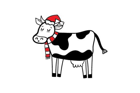 Christmas Cow Cut File