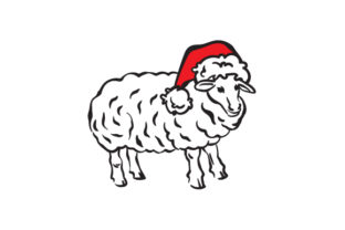 Christmas Sheep Christmas Craft Cut File By Creative Fabrica Crafts
