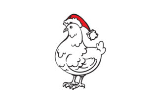 Christmas Chicken Christmas Craft Cut File By Creative Fabrica Crafts