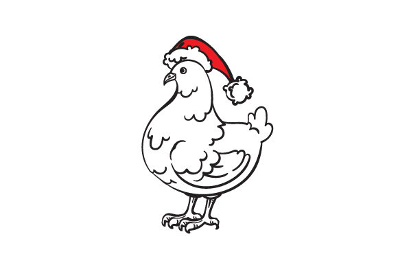 Christmas Chicken Cut File