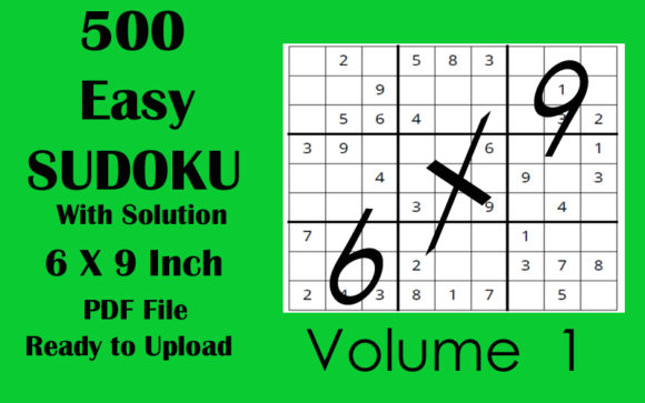 500 Easy Sudoku Puzzle 6 X 9 KDP Vol 1 Graphic KDP Interiors By Seven Elephant