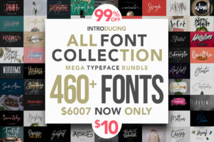 All Fonts Collection - Mega Typeface Bundle Bundle By Maulana Creative