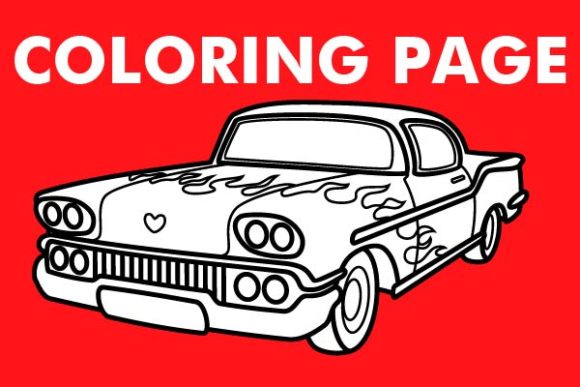 Print on Demand: American Car Design Illustration Graphic Coloring Pages & Books By Mah Moud