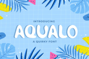 Print on Demand: Aqualo Display Font By OKEVECTOR