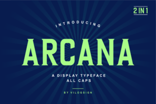 Print on Demand: Arcana Display Font By Vilogsign