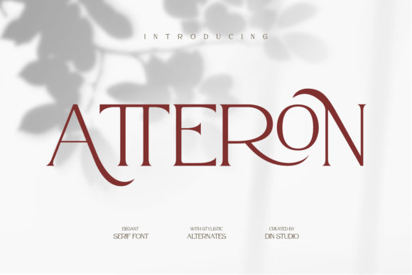 Print on Demand: Atteron Serif Font By Din Studio