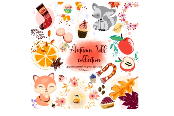 Autumn Collection Graphic Illustrations By ArtstudioByKhushbu