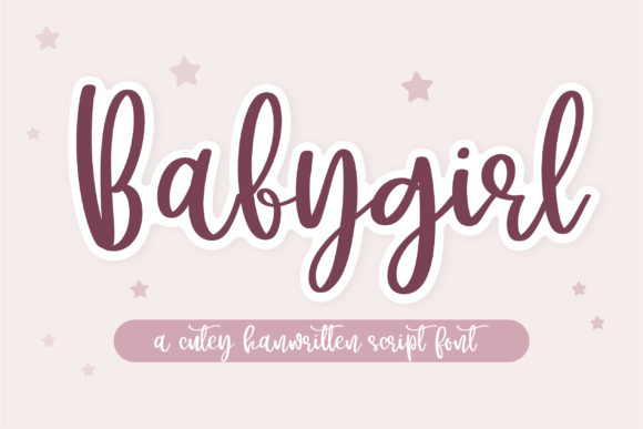Print on Demand: Babygirl Manuscrita Fuente Por BitongType