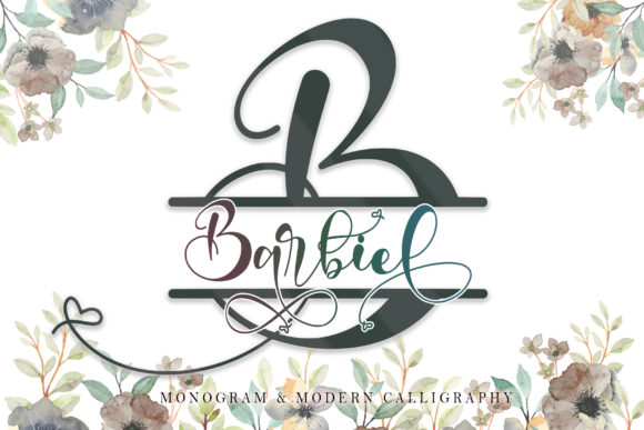 Print on Demand: Barbiel Script & Handwritten Font By thomasaradea