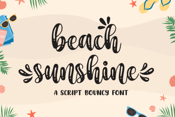 Print on Demand: Beach Sunshine Script & Handwritten Font By Mozarella