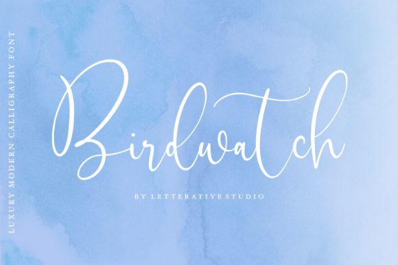Print on Demand: Birdwatch Script & Handwritten Font By letterativestudio