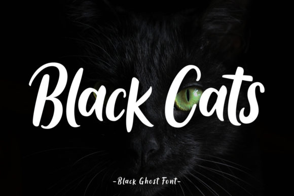 Black Ghost Font Popular Design