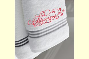 Print on Demand: Blessing Decorative Lettering Holidays & Celebrations Embroidery Design By setiyadissi