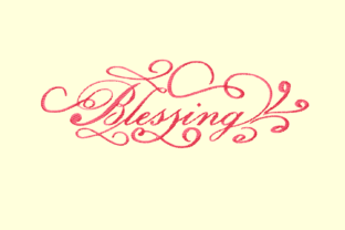Print on Demand: Blessing Decorative Lettering Holidays & Celebrations Embroidery Design By setiyadissi 2