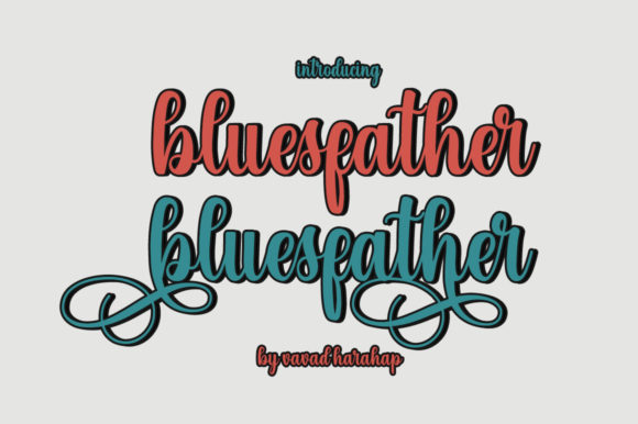 Print on Demand: Bluefather Script & Handwritten Font By VavadHarahap