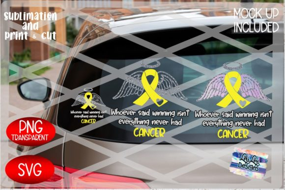 Print on Demand: Cancer Ribbon Wings - Childhood Cancer Graphic Illustrations By Lori Lou Designs