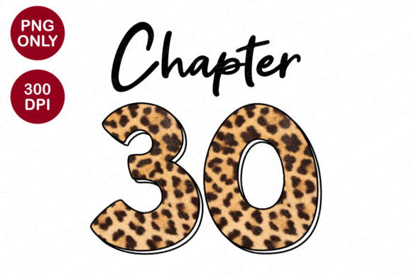 Print on Demand: Chapter 30 Years, Leopard Sublimation Graphic Crafts By SineDigitalDesign