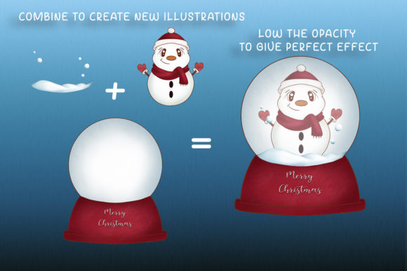 Print on Demand: Christmas Clipart Christmas Illustration Graphic Illustrations By StudioAngelArts