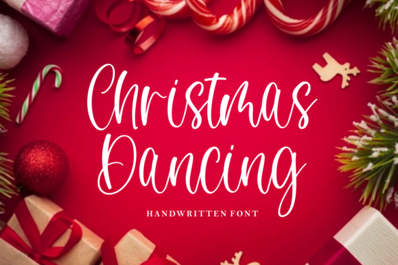 Print on Demand: Christmas Dancing Script & Handwritten Font By mfikryalif