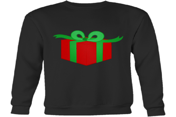 Christmas Gift Box Embroidery Download