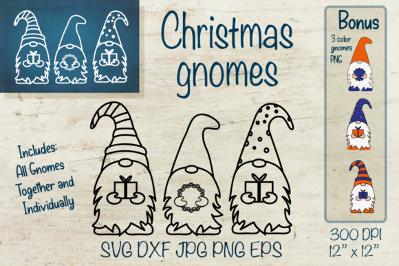 Christmas Gnome Graphic Crafts By Createya Design