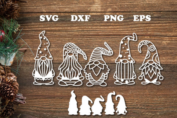 Print on Demand: Christmas Gnome Svg Cut File Graphic Graphic Print Templates By dadan_pm