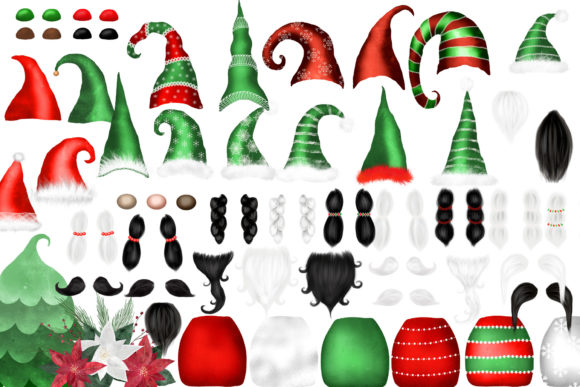 Christmas Gnomes Clipart Graphic Item