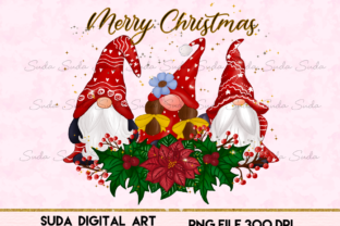 Print on Demand: Christmas Gnomes Design  Sublimation Graphic Illustrations By Suda Digital Art