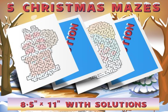 Download Christmas Mazes Set 3 Graphic By Webmark Creative Fabrica