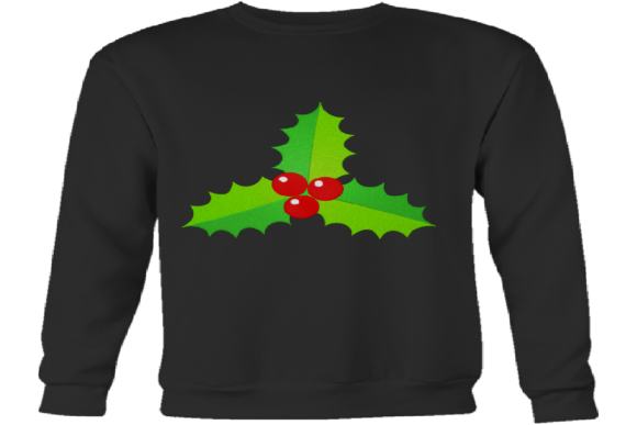 Christmas Mistletoe Embroidery Preview