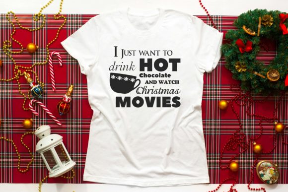 Print on Demand: Christmas Movies and Hot Chocolate SVG Graphic Crafts By richardeley1969