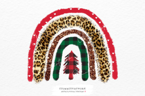 Christmas Rainbow Sublimation Design Png Graphic Crafts By Chonnieartwork
