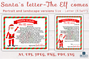 Print on Demand: Christmas Santa Letter About Elf SVG. Graphic Print Templates By OK-Design