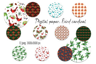 Print on Demand: Christmas Winter Digital Paper Graphic Patterns By ElenaZlataArt