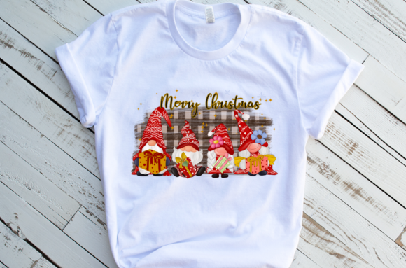 Christmas Gnomes Family Sublimation Graphic Download