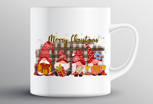 Christmas Gnomes Family Sublimation Graphic Design
