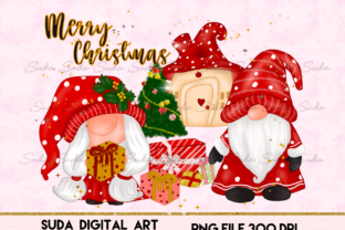 Print on Demand: Christmas Gnomes House Sublimation Graphic Illustrations By Suda Digital Art