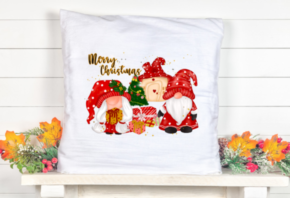 Christmas Gnomes House Sublimation Graphic Download