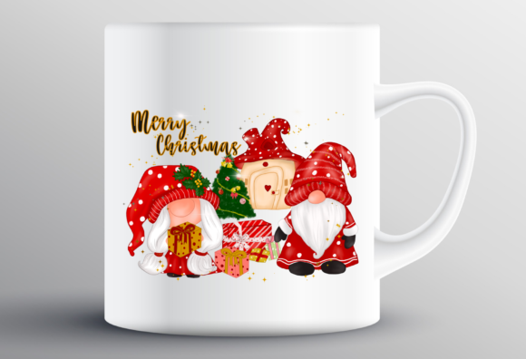 Christmas Gnomes House Sublimation Graphic Item