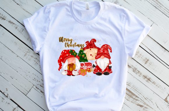 Christmas Gnomes House Sublimation Graphic Design