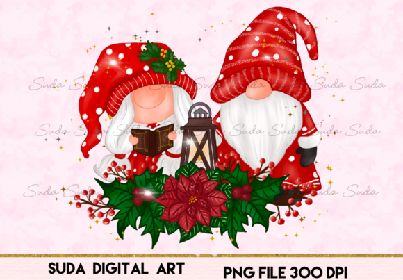 Print on Demand: Christmas Gnomes Sweet Sublimation Gráfico Illustrations Por Suda Digital Art