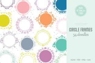 Circle Frame Color | Round Wreath Border Graphic Illustrations By Digital_Draw_Studio