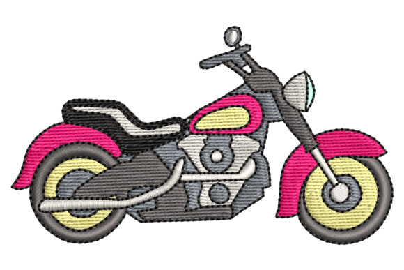 Classic Motorcycle Sports Embroidery Design By BabyNucci Embroidery Designs